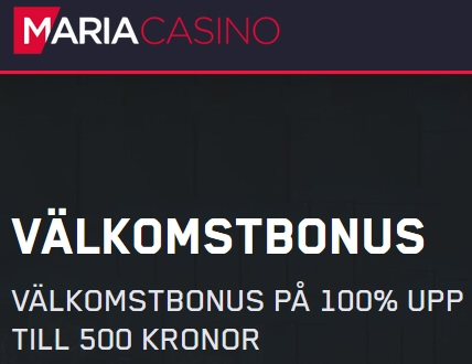 Hämta välkomstbonus och spela Roulette hos Maria Casino!