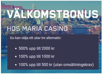 Klicka här och spela Roulettespel vid Maria Casino nu!